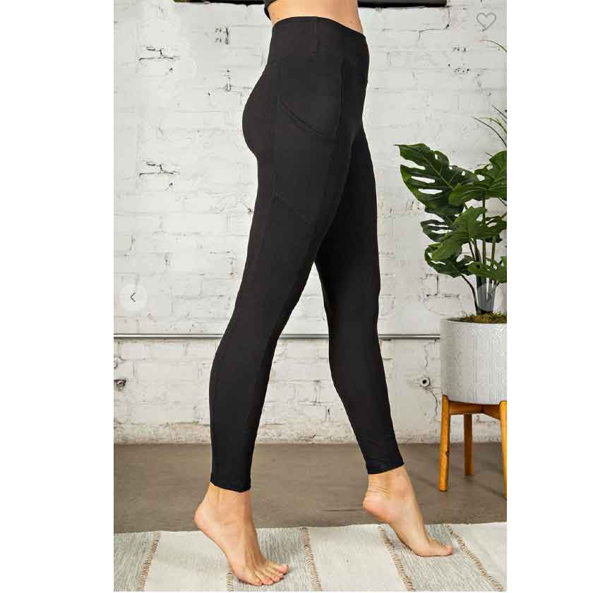BLACK FULL LENGTH LEGGINGS