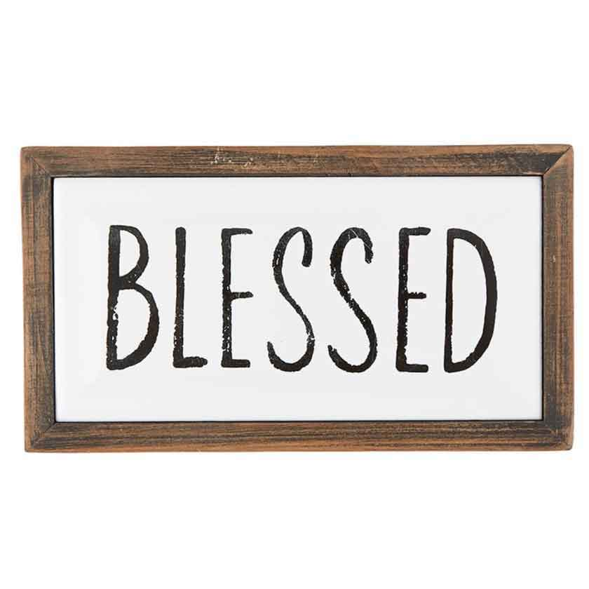 BLESSED ENAMEL PLAQUE 7X4 - CB