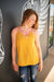 MUSTARD LACE CAMI