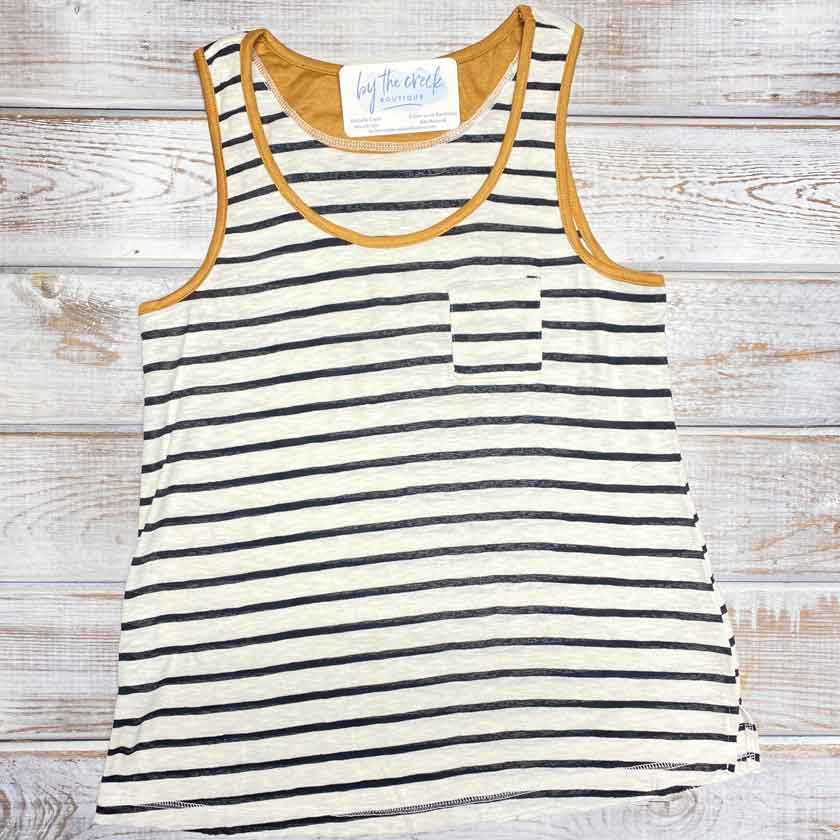 Black/Gold Stripe Tank