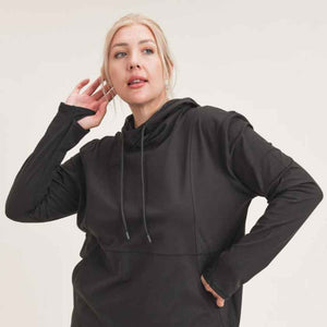 Black Hoodie with Thumb Holes