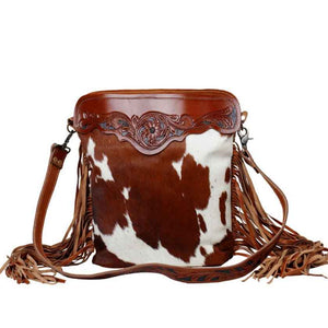 COWBOY HAND-TOOLED BAG - MYRA BAG