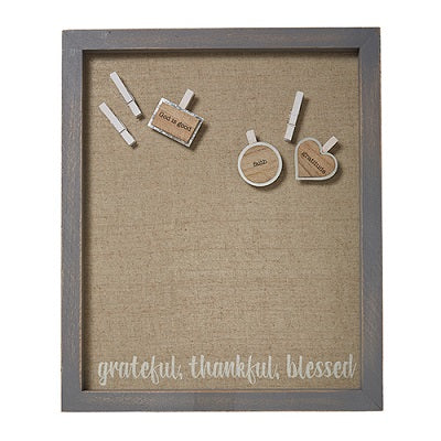 Grateful, Thankful, Blessed Wall Art - CB