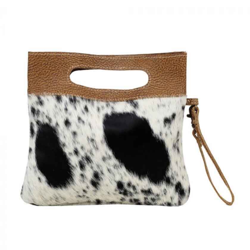 ENERGETIC LEATHER AND HAIRON BAG - MYRA BAG