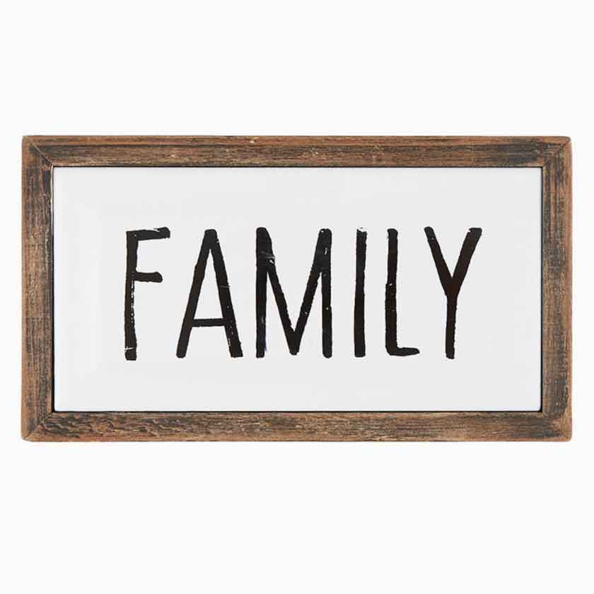 FAMILY ENAMEL PLAQUE 7X4 - CB