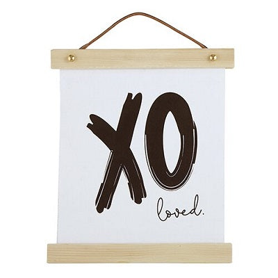 XO Canvas Wall Sign - CB