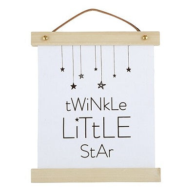 Twinkle Little Star Canvas Wall Sign - CB