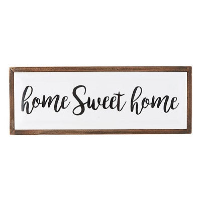 Home Sweet Home Tabletop Framed Enamel Plaque - CB