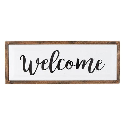 Welcome Tabletop Framed Enamel Plaque - CB