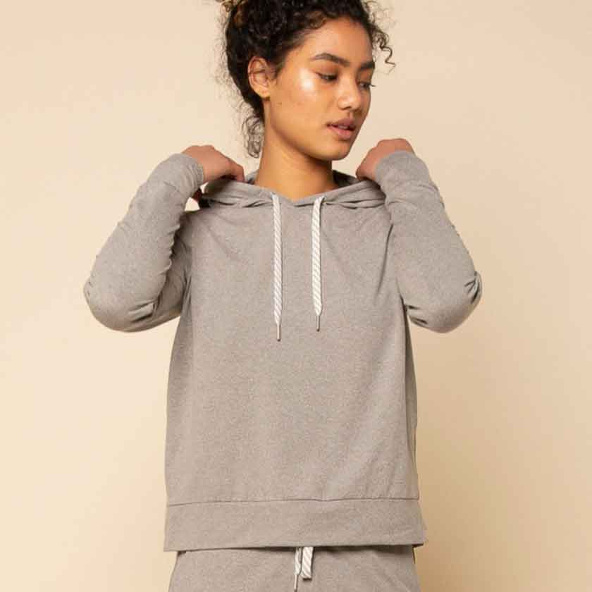 Heather Gray Panama Hoodie