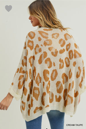 LEOPARD SWEATER WITH POCKET