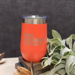 Real Housewives of Faulk County 12oz Wine Tumbler
