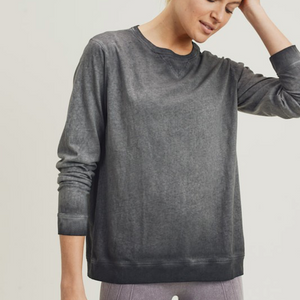 Dirty-Wash Essential Pullover(2 Colors)