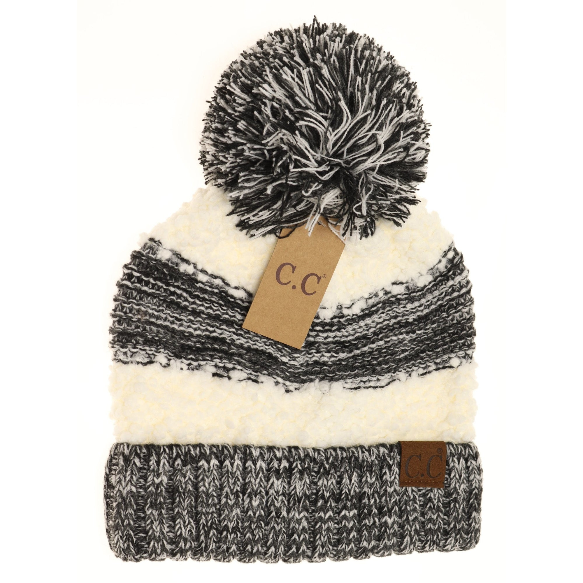 CC Popcorn Black Heathered Beanie