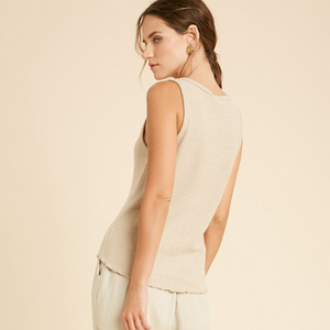 Taupe Brushed Rib Tank