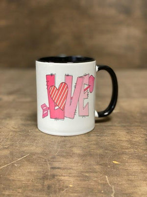 Pink LOVE Mug With Heart And Arrow