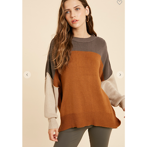 Charcoal/Rust Sweater