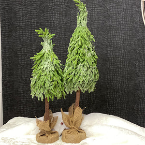 Glittery Tree In Burlap Sack