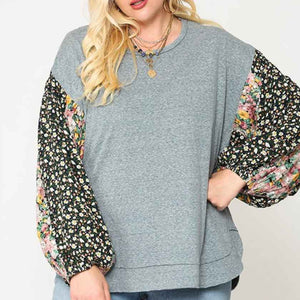 Lagoon Floral Sleeves Top