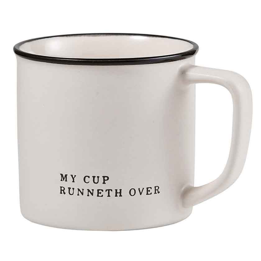 MY CUP RUNNETH OVER COFFEE MUG - CB