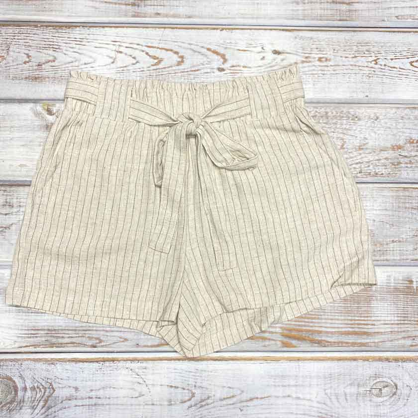 Oat Pin Stripe Shorts