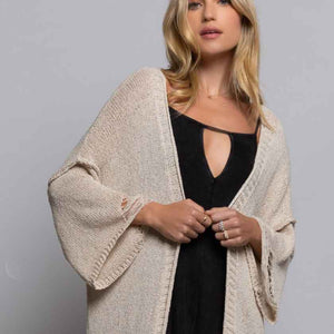 SAND CASTLE DISTRESSED CARDIGAN