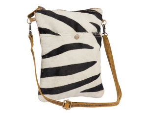 MYRA BAG - STRIPEY LEATHER CROSSBODY BAG