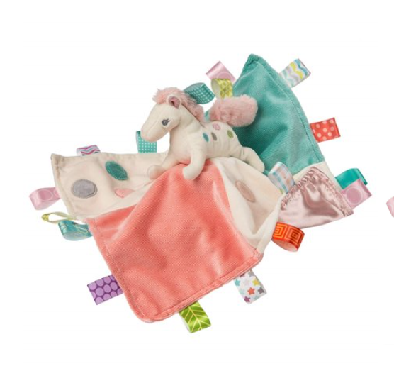 Mary Meyer Taggies Soothing Sensory Stuffed Animal Security Blanket,