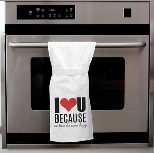 I Love You Because We Hate the Same Things Twisted Wares Tea Towel
