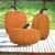 SET OF THREE WOOD PUMPKINS WITH STANDS KALALOU