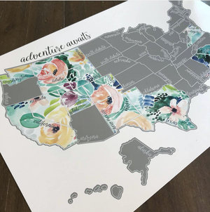 Rose Less Traveled US Map