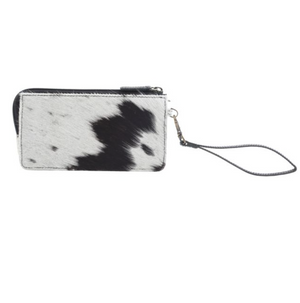 Myra Bag - MESMERISING MONOCHROME LEATHER AND HAIRON WALLET