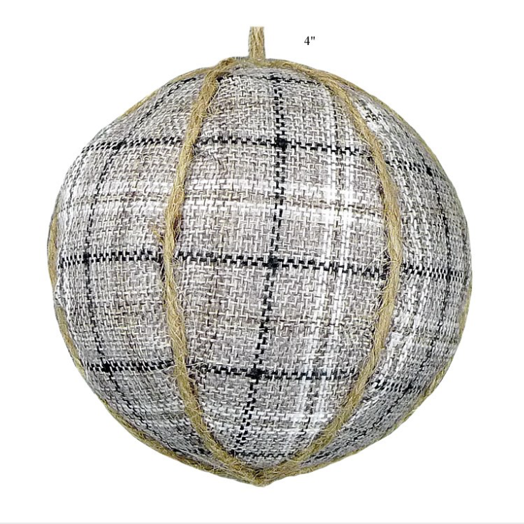 "Ball Ornament - 4"" - Wills"