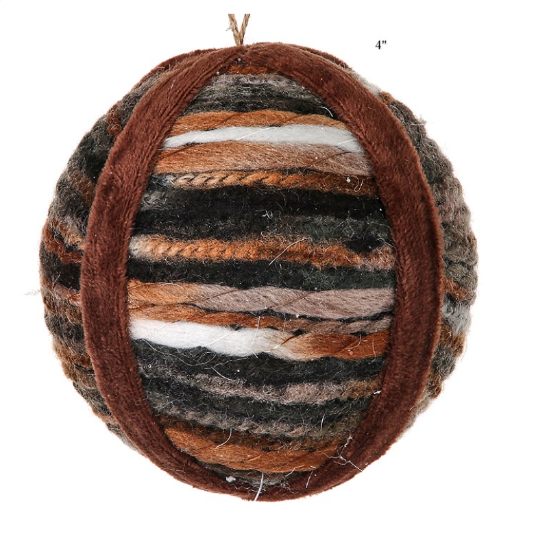 "Forest Trail Yarn Ball Ornament - 4"" - Wills"