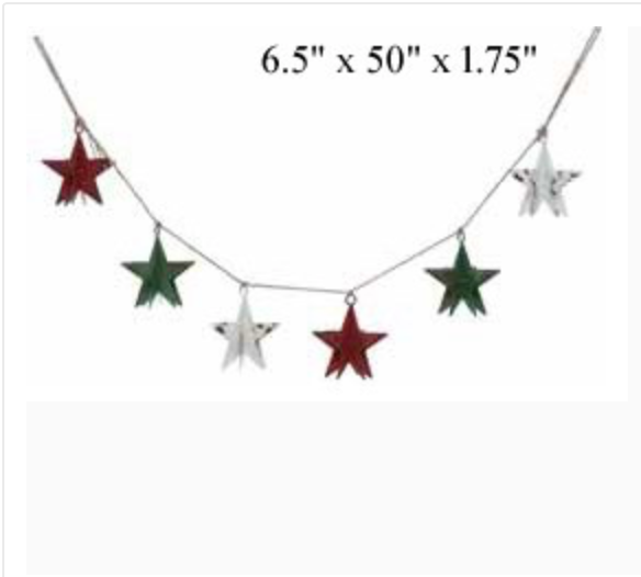 "3-D Star Garland - 50"" - Wills"