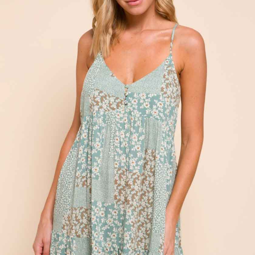 Seafoam babydoll dress