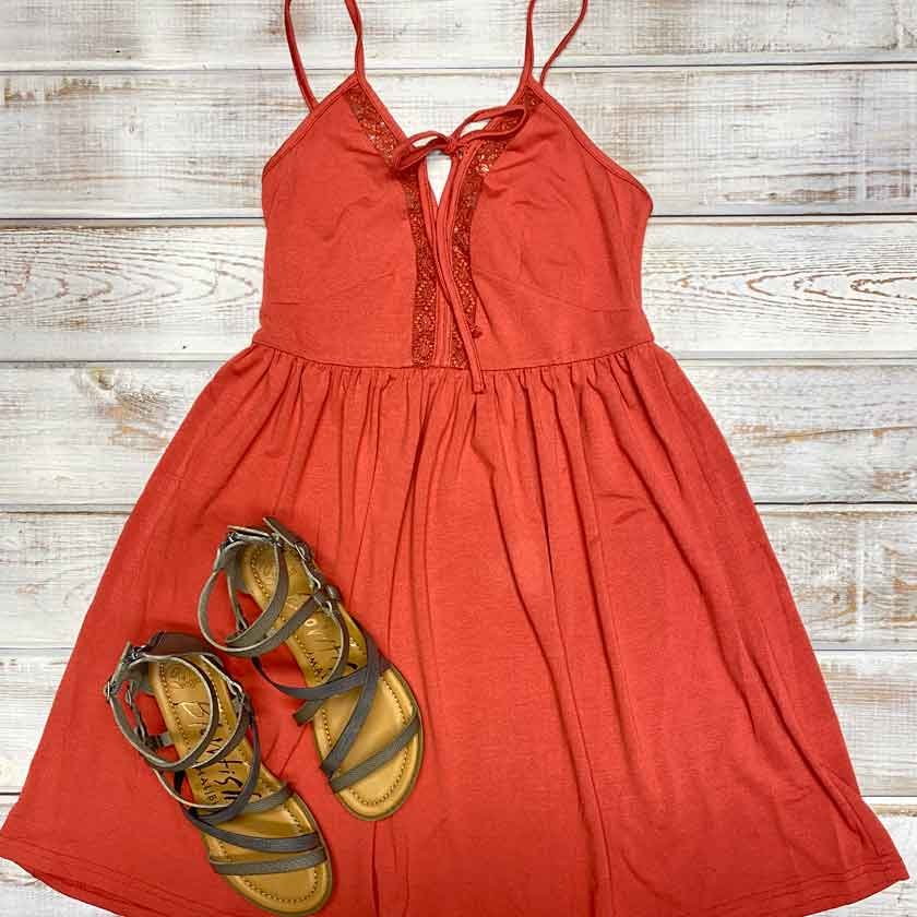 Sunkissed Red Dress