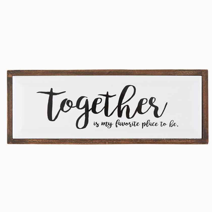 TOGETHER ENAMEL PLAQUE 12X4 - CB