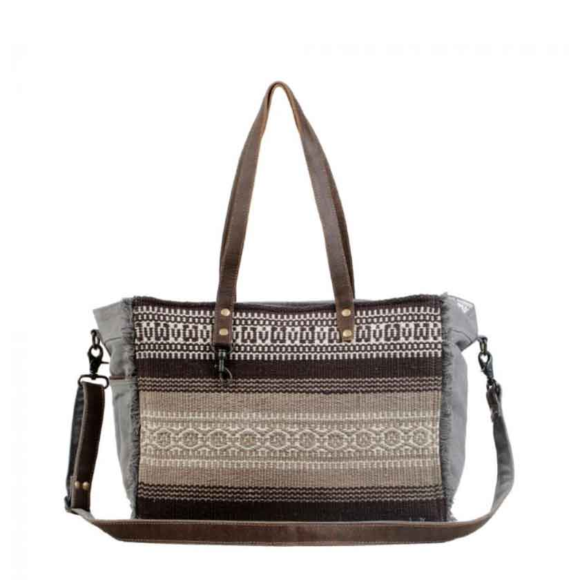 Myra Bag Tribal Print Weekender