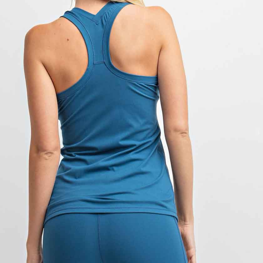 Plus Size Yoga top in Teal