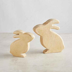 Small wooden rabbit