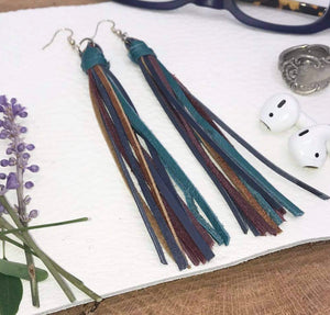 Leather Tassel Earring by Little Jul