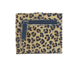 CRAZY LEOPARD LEATHER AND HAIRON WALLET - Myra Bag