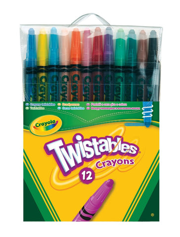 BY65 - Pkg(s) of 12 Twistable Wax Crayons Crayola