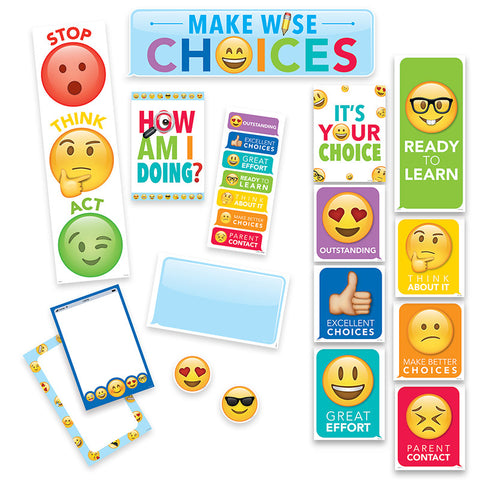CTP0596 - EMOJI FUN BEHAVIOUR - MINI BULLETIN BOARD SET