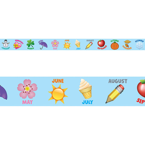 CTP2729 - EMOJI MONTHS OF THE YEAR BORDER