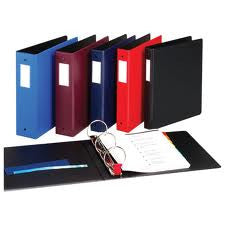 "CD19 - 1 1/2"" Premium 3 Ring Vinyl Binder Black"