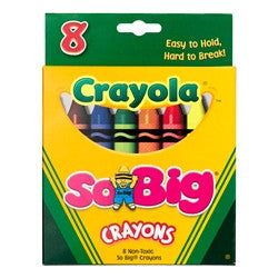 BY40 - Pkg(s) of 8 Jumbo Washable Wax Crayons
