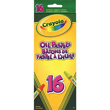 BY42 - Pkg(s) of 16 Large Crayola Oil Pastels