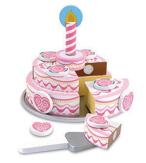 4069 - Triple-Layer Party Cake - Wooden Play Food